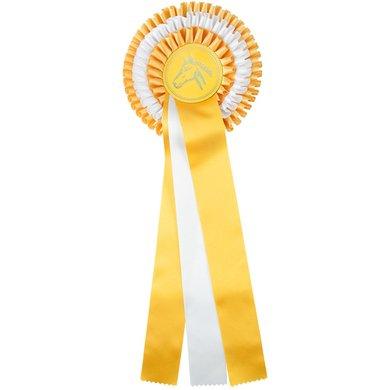 Medaillen Reiten Schleifen Rosetten Pferdeschleifen Gelb Turnier Turnierschleifen Dressur