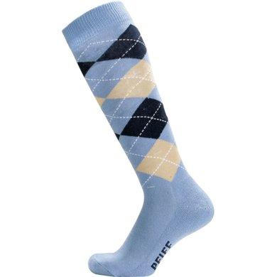 Pfiff Checked Riding Socks Blue/Light blue