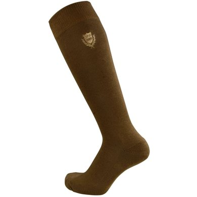 Pfiff Checked Riding Socks Brown