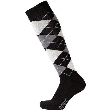 Pfiff Checked Riding Socks Black/White