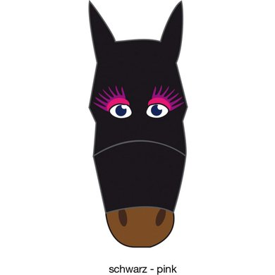 Pfiff Fly Mask Motif Black/Pink