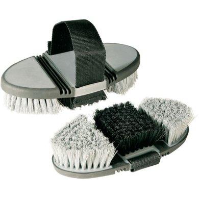 Pfiff Body Brush Grey Black
