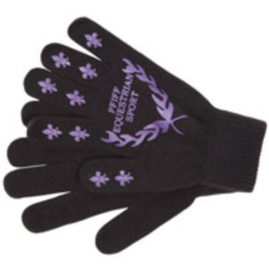 Pfiff Handschoenen met Print Zwart-Lila