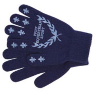 Pfiff Handschoenen met Print Blauw-Lichtbl