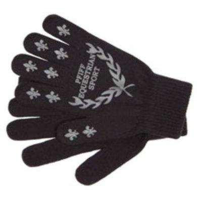 Pfiff Handschoenen met Print Zwart-Grijs