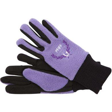 Pfiff Childrens Gloves Black/green/purple