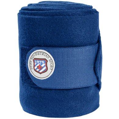Pfiff Fleecebandages met Logo Blauw