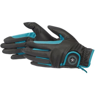 Pfiff Winter Gloves Black and Turquoise