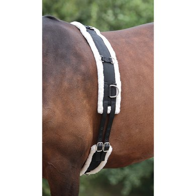 Shires Nylon Roller with Fleece Padding Black