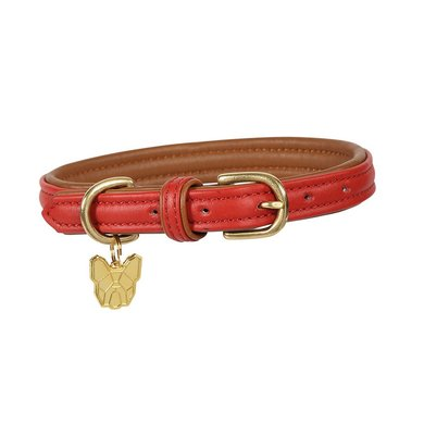 Digby & Fox by Shires Halsband Leer Rood