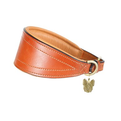 Digby & Fox by Shires Halsband Greyhound Gewatteerd Tan