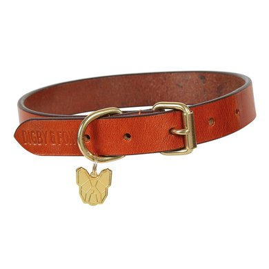 Digby & Fox by Shires Halsband Vlak Leder Tan