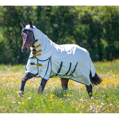 Highlander Plus by Shires Eczeemdeken Sweet-Itch Combo White
