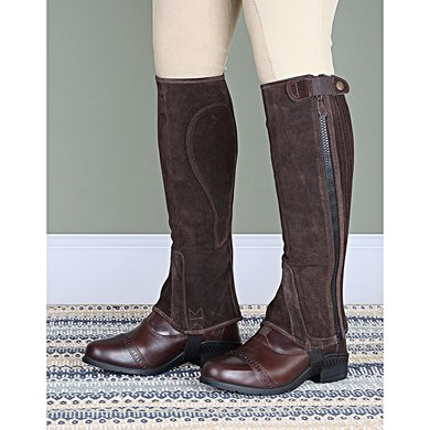 Moretta by Shires Korte Chaps Suede Adult Brown M