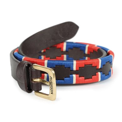 Aubrion by Shires Riem Polo Navy/Rood