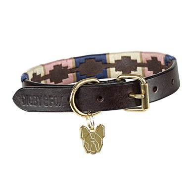 Digby & Fox by Shires Halsband Drover Polo Navy/Pink/Natural