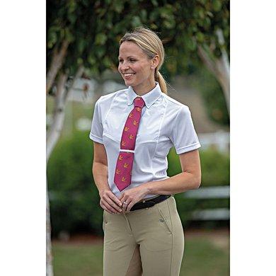 Shires Xs Avec Manches Cravate Chemise Blanc Courtes Femmes AL45Rj