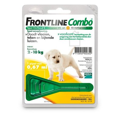 Frontline Combo Spot-on Puppy Pack >2kg 1 Pipet