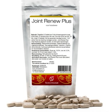Sensipharm Joint Renew Plus - Huisdieren 90 tabl. a 1000 mg