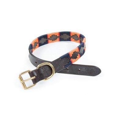 Shires Dog Collar Drover Polo Navy/Orange XS