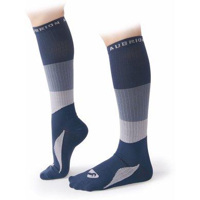 Aubrion Sokken Perivale Compression Navy Blauw Volwassen