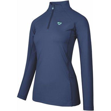 Aubrion Shirt Newbury Lange Mouwen Kids Navy Blauw 11/12YR