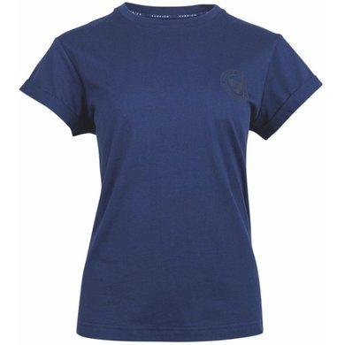 Aubrion T-shirt Croxley Kids Navy Blauw 13/14YR