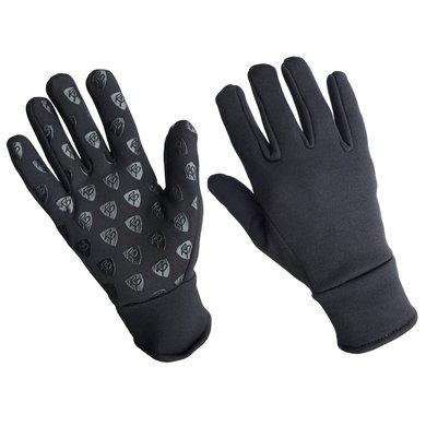Rider Pro Nylon Handschuhe Fleece Boston Schwarz S