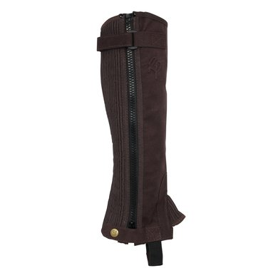 Rider Pro Minichaps Amara Stretch Suede Darkbrown