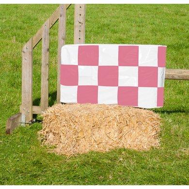 Jumpstack Hoes voor Hooi-/strobaal Jump Pink Check/Hearts