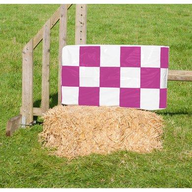 Jumpstack Hoes voor Hooi-/strobaal Jump Purple Check/Hearts