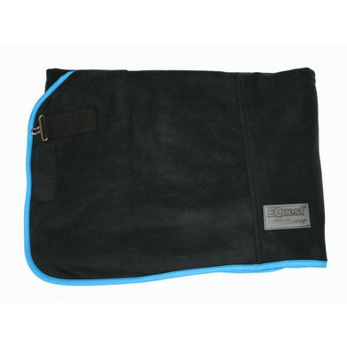 EQuest Deken Alpha Fleece Regular Zwart/Aqua L