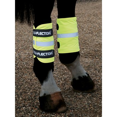 Shires Reflecterende arm/been band Equi Fluorgeel