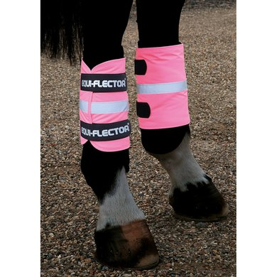 Shires Reflecterende arm/been band Equi Fluor roze
