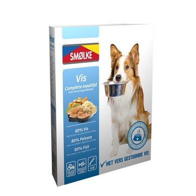 Smolke Hond Vers Gestoomd Vis 10x395gr