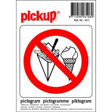 Pickup Pictogram verbod Consumpties #1