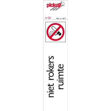 Pickup Route Aanduidingsbord niet Roken Ruimte Aluminium