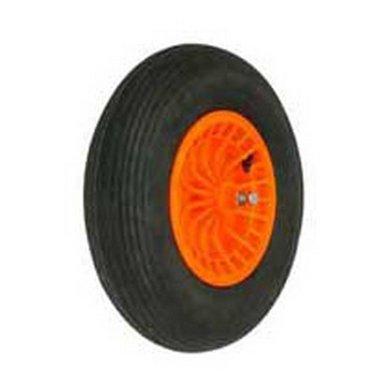 Altrad Fort kruiwagenwiel kunststof oranje/zwart 13cm