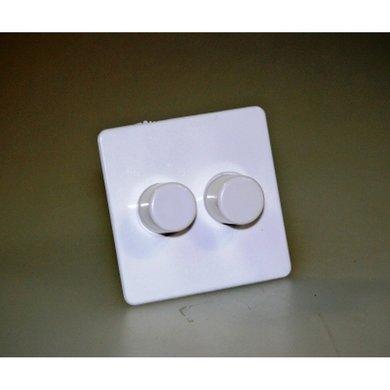 Centraalplaat + knop Pehà 2-voudig voor dimtronic wit
