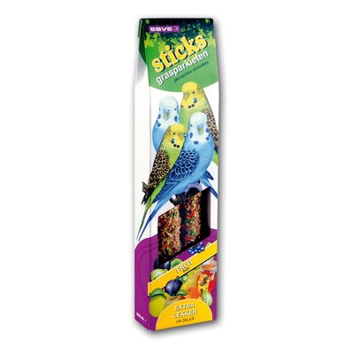 Esve Vogelsticks Parkiet Fruit 2st