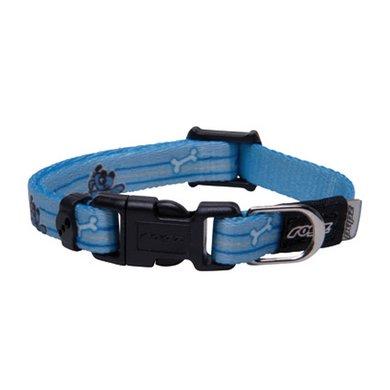 Rogz Yip Halsband Blauw 14-21cm