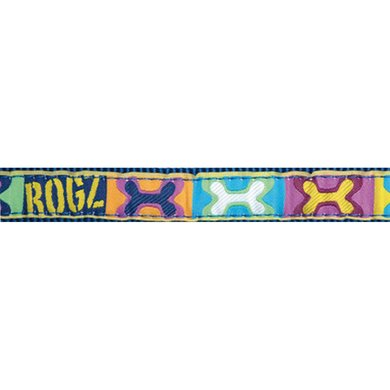 Rogz Scooter Choker Pop Art Navy Navy 16mm - 5/8