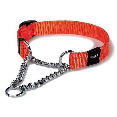 Rogz Snake Obedience Choker Orange Oranje 16mm - 5/8