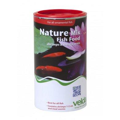 Velda Nature Mix Fish Food Garnalen Meelworm 1250ml