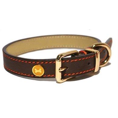 Halsband Hond Leer Luxe Bruin