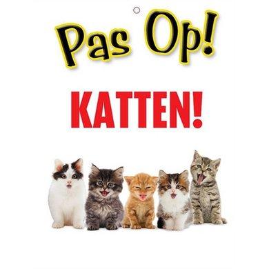 Waakbord Pas Op! Katten!