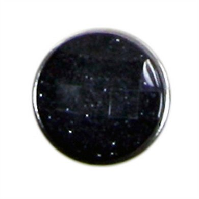 Button Glitter Zwart Diam 1.5cm