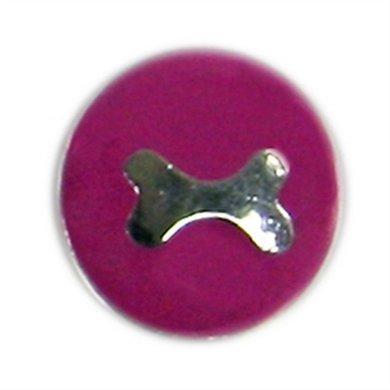 Button Roze Met Bot Zilver Kleur Diam 1.5cm