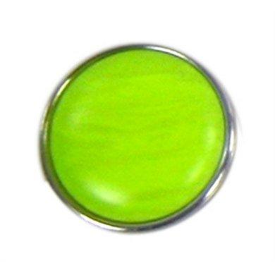 Button Fluor Geel Diam 1.5cm