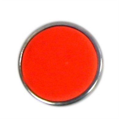 Button Fluor Oranje Diam 1.5cm